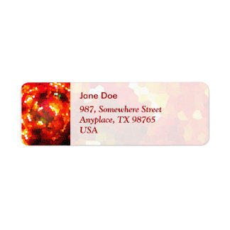 Fiery red stained glass return address label