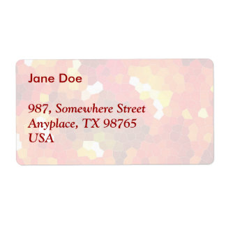 Fiery red stained glass shipping label