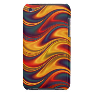 Fiery red yellow blue waves barely there iPod cases