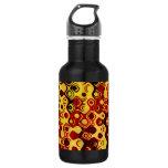 Fiery Retro Abstract 18oz Water Bottle