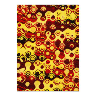 Fiery Retro Abstract Card