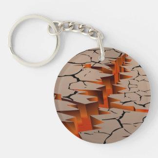 Fiery Rift Illustration Keychain