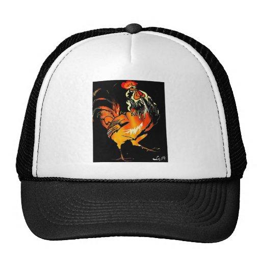 FIERY ROOSTER TRUCKER HAT