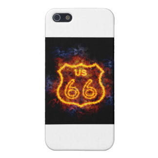 Fiery Route 66 Cover For iPhone SE/5/5s