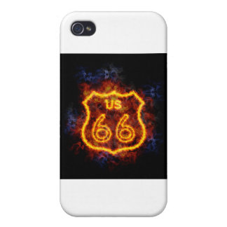 Fiery Route 66 iPhone 4 Case