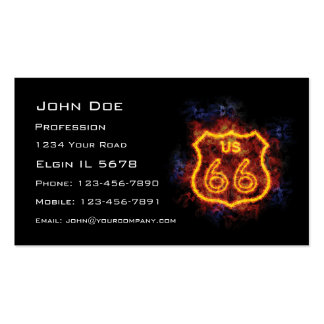 Fiery Route 66 Sign Business Card