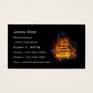 Fiery Sailship Business Card