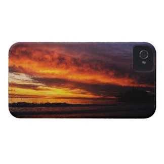 Fiery Santa Monica Sunset Blackberry Cases
