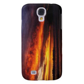 Fiery Santa Monica Sunset Galaxy S4 Case
