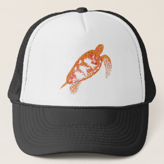 Fiery Sea Turtle in Altered Colors Trucker Hat