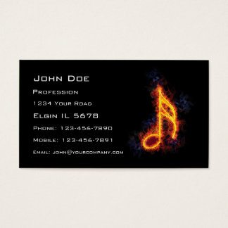 Fiery Semiquaver Business Card