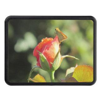 Fiery Skipper Butterfly on Rosebud Hitch Cover
