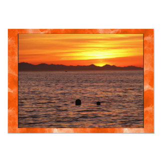 Fiery Sky at Birch Bay Card