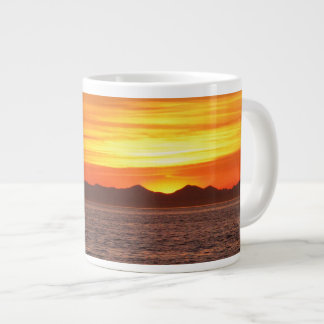 Fiery Sky at Birch Bay Large Coffee Mug
