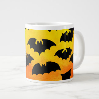 Fiery Sky Full of Bats 20 Oz Large Ceramic Coffee Mug