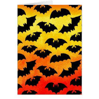 Fiery Sky Full of Bats Stationery Note Card