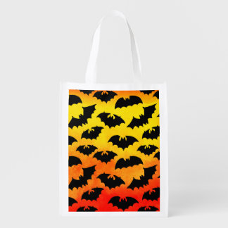 Fiery Sky Full of Bats Reusable Grocery Bag
