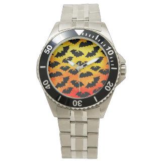 Fiery Sky Full of Bats Wristwatch