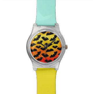 Fiery Sky Full of Bats Wristwatches