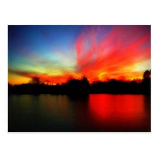 Fiery Sky Post Card