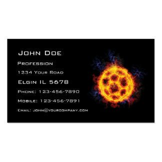 Fiery Soccerball Business Card