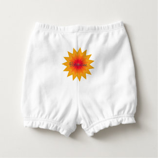Fiery Star Kaleidoscope Mandala Personalized Diaper Cover