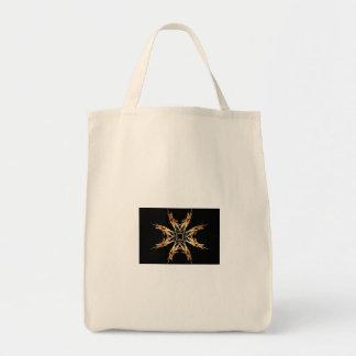 Fiery Starbust Fractal Art Bag
