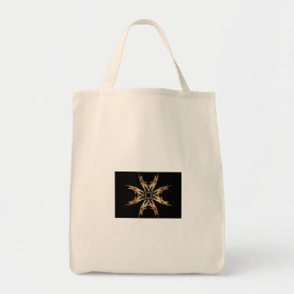 Fiery Starbust Fractal Art Tote Bag