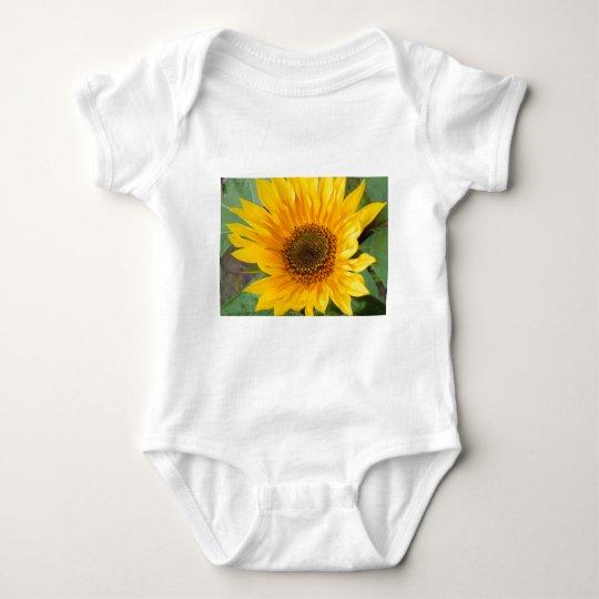 Fiery Sunflower Baby Bodysuit
