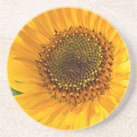 Fiery Sunflower Drink Coaster