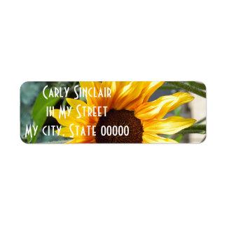 Fiery Sunflower Label