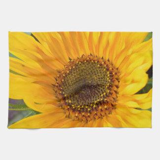Fiery Sunflower Towel