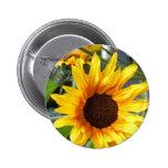 Fiery Sunflowers 2 Inch Round Button