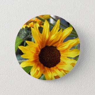 Fiery Sunflowers Pinback Button