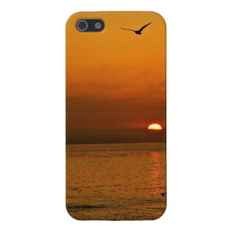 FIERY SUNSET AT THE PACIFIC OCEAN iPhone SE/5/5s COVER