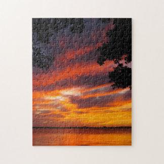 Fiery Sunset Jigsaw Puzzle