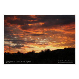 Fiery Sunset Orania, South Africa (2) Poster