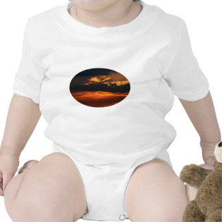 Fiery Sunset Oval Infant Tees