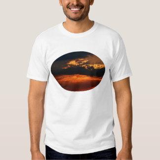 Fiery Sunset Oval Light Shirt Male