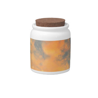 Fiery Sunset over the tree tops Candy Jar