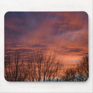 Fiery Sunset photo Mouse Pad