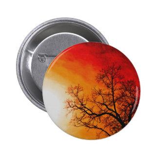 Fiery Sunset & Tree Nature Art Pins