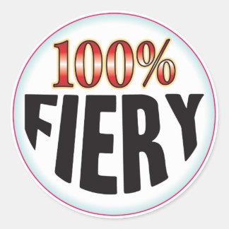 Fiery Tag Round Sticker