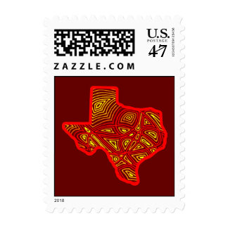 Fiery Texas Stamp