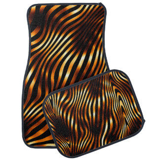 Fiery Tiger Stripes Car Floor Mat