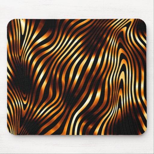 Fiery Tiger Stripes Mousepads