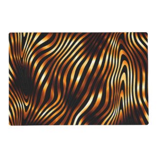 Fiery Tiger Stripes Placemat