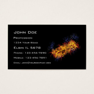 Fiery Trumpet Business Card