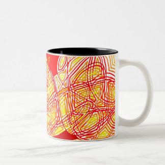 Fiery Two-Tone Coffee Mug