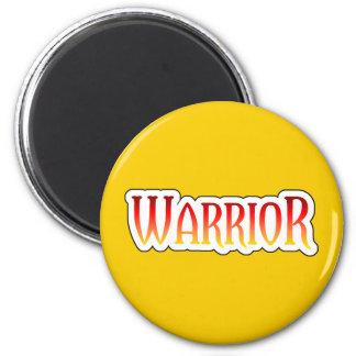 Fiery WARRIOR Yellow Magnet
